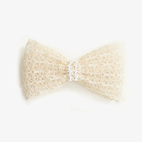 Crocheted Bow Barrette | FOREVER 21 - 1045449902