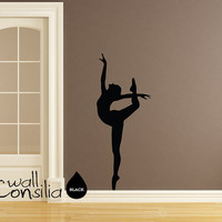 Ballerina Wall Decal Ballerina Wall Sticker 58 by WallConsilia