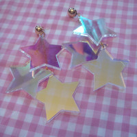 Radiant Stars Earrings by imyourpresent on Etsy