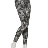 HUE Floral Jeans Leggings