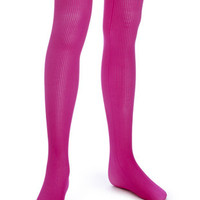 HUE Girls Classic Rib Tights