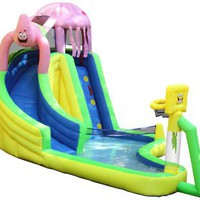 Sportcraft SpongeBob and Friends Waterslide with Sports Center: Sports & Outdoors