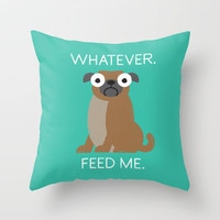 The Pugly Truth Throw Pillow by David Olenick | Society6