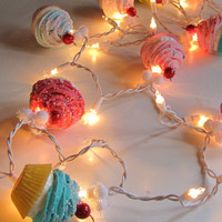 $45.00 Cupcake Lovers&#x27; String of Lights by 12LegsCuriosities