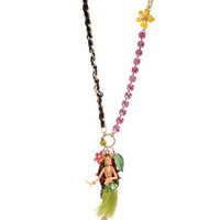 HULA GIRL LONG PENDANT NECKLACE - Betsey Johnson