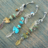 choose 1 gemstone zuni bear belly ring zuni bear in tribal native american inspired boho gypsy hippie belly dancer beach and hipster style