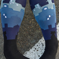 Socks By Sock Dreams   Socks  Sock It To Me Cityscape