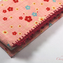 Checkbook cover Pink Floral japanese fabric