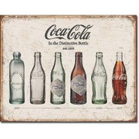 Amazon.com: Coca Cola Bottle Evolution Distressed Retro Vintage Tin Sign: Home & Kitchen