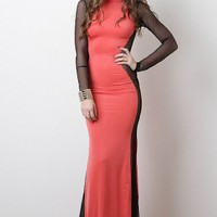Chocolate Escalation Maxi Dress
