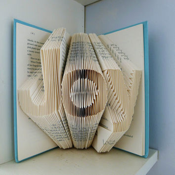 Joy  Home Decor  Holiday  Folded Book Art   by LucianaFrigerio