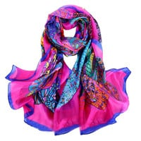 Mulberry Silk Dense Abstract Print Scarf