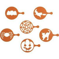 Set of 6 Halloween Cupcake Stencils | Crate&Barrel