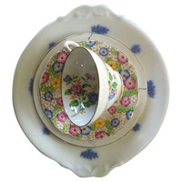 One Kings Lane - The Floral Table - Fun Floral China, 4 Pcs