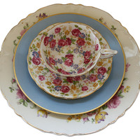 One Kings Lane - The Floral Table - Chintz China, 4 Pcs