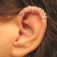 "No Piercing ""Curling Ivy"" Cartilage Ear Cuff for Upper Ear Helix 1 Cuff COLOR CHOICES Wedding, Prom, Quinceañera"