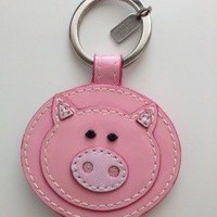 COACH PIGGY KEYCHAIN BABY PINK+FREE SHIPPING