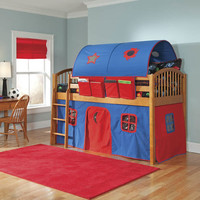 Alaterre Collection Mansfield Junior Loft Bed with CurtainsBuy Now!