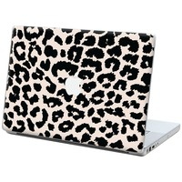 "Black and White Leopard ""Protective Decal Skin"" for Macbook 15"" Laptop"