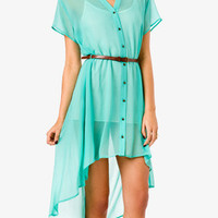 Belted High-Low Shirtdress | FOREVER 21 - 2015036122