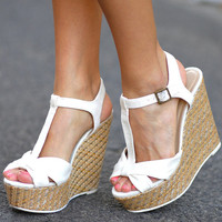 Little Bow Peep Wedges: Off White | Hope&#x27;s