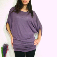 Sexy Dark Purple Women Blouse  Oversized Tee / by idea2wear