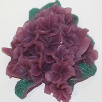 Purple Lilac Glycerin Handcrafted Soap Flower in Gift Box | Gingers-Garden - Bath & Beauty on ArtFire