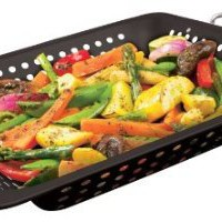 GrillPro 98121 Porcelain Coated Square Wok Topper