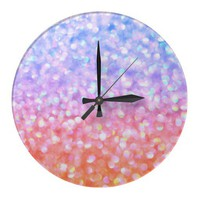 Encircled in Happiness Clock from Zazzle.com
