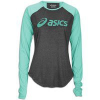 Asics Women`s Ryleigh LS Tee, Spearmint, Large: Sports &amp; Outdoors
