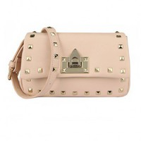 Rectangular Cross Body Bag with Stud Embellishment