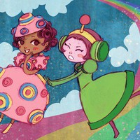Katamari Girls by theGorgonist on Etsy