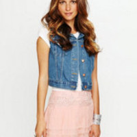Free People Embroidered Raw Chiffon Skirt at Free People Clothing Boutique