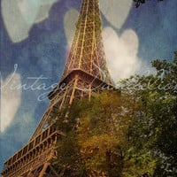 Left My Heart in Paris Eiffel Tower Fine Art by VintageDandelions