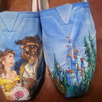 Beauty and the Beast hand painted TOMS