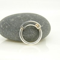 Sterling Silver & 9ct Gold 'Rolling' Ring from Claire Wood | Made By Claire Wood Jewellery | £155.00 | Bouf