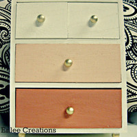Handpainted Ombre Coral jewelry box