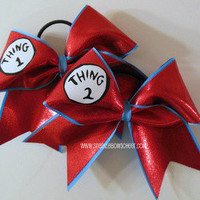 Thingy 1 and Thingy 2 Cheer Bow Hair Bow Cheerleading