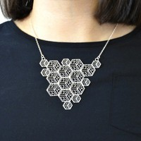 'Quadra' geometric 3d cube necklace from Ridley & Dowse | Made By Ridley & Dowse. Made in Englan | £62.50 | Bouf