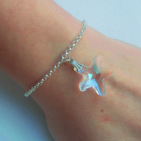 Crystal starfish summer affordable bracelet
