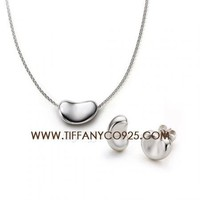 Shopping Cheap Elsa Peretti Bean Pendant Set in Sterling Silver At Tiffanyco925.com - Discount Tiffany Setting