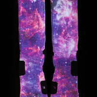 NIKE Elite Custom Socks Size L (8-12) LEBRON X ALL STAR GALAXY - Brand New