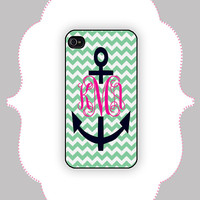 iPhone Case- Anchor Monogram- iPhone 4/4s, iPhone 5 Case, Monogram Case, Personalized iPhone Case