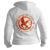 Fire Mockingjay Fitted Hoodie