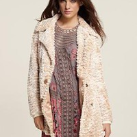 "Free People ""Paris With Love"" Faux Fur Striped Jacket - Under $250 - Bloomingdales.com"