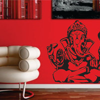 GANESHA ELEPHANT Buddha India decal sticker wall Hindu Buddhist