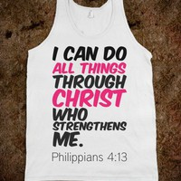 I Can Do All Things Through Christ - Protego - Skreened T-shirts, Organic Shirts, Hoodies, Kids Tees, Baby One-Pieces and Tote Bags