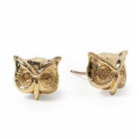 Marc by Marc Jacobs Strass Owl Stud Earring | Piperlime