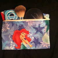 Little mermaid makeup bag