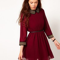 Dahlia Chiffon Dress With Stud Detail at asos.com
